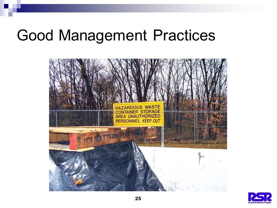25 Good Management Practices
