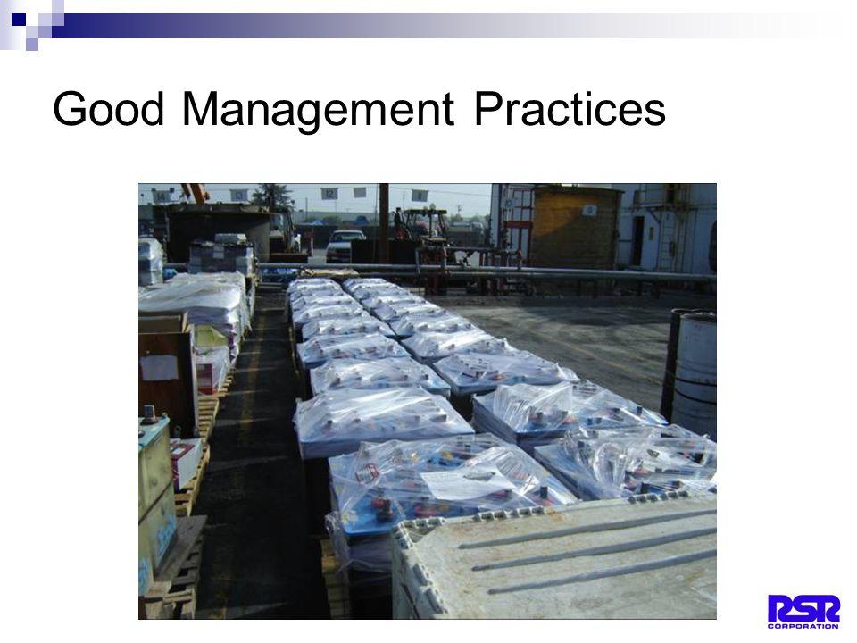 26 Good Management Practices