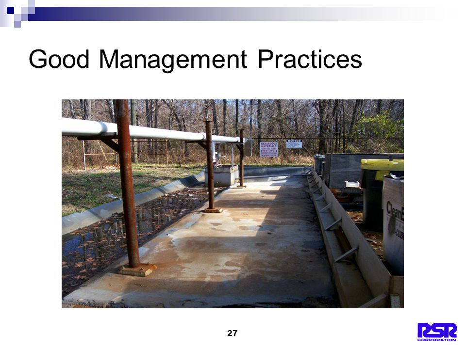 27 Good Management Practices