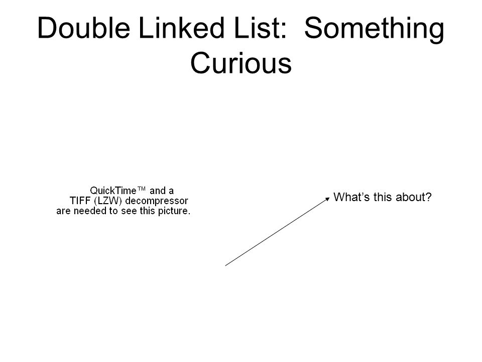 Double Linked List: Something Curious What's this about