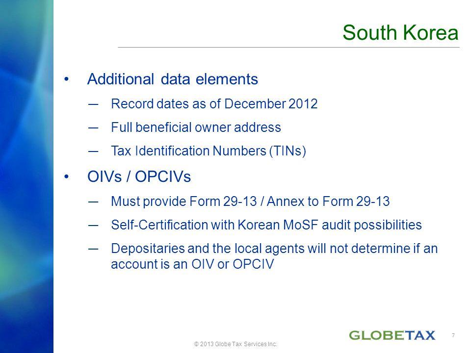 © 2013 Globe Tax Services Inc.