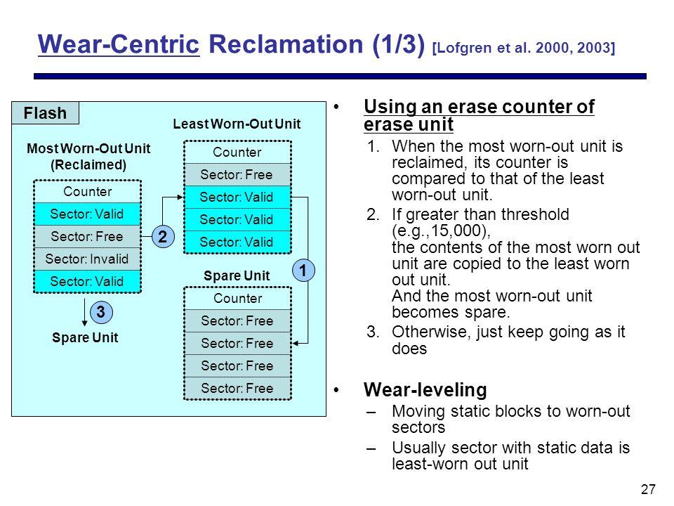 27 Wear-Centric Reclamation (1/3) [Lofgren et al.