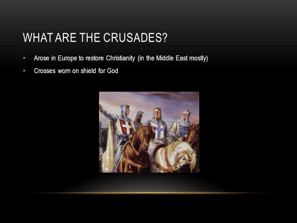 THE THIRD CRUSDE Christian crusaders vs.