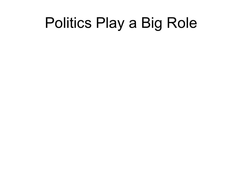 Politics Play a Big Role