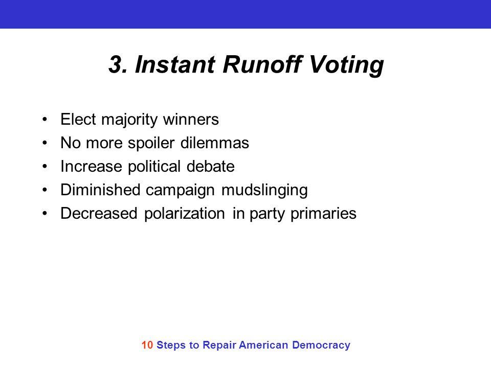 10 Steps to Repair American Democracy 3.