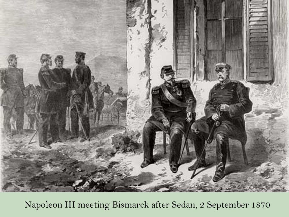 Napoleon III meeting Bismarck after Sedan, 2 September 1870