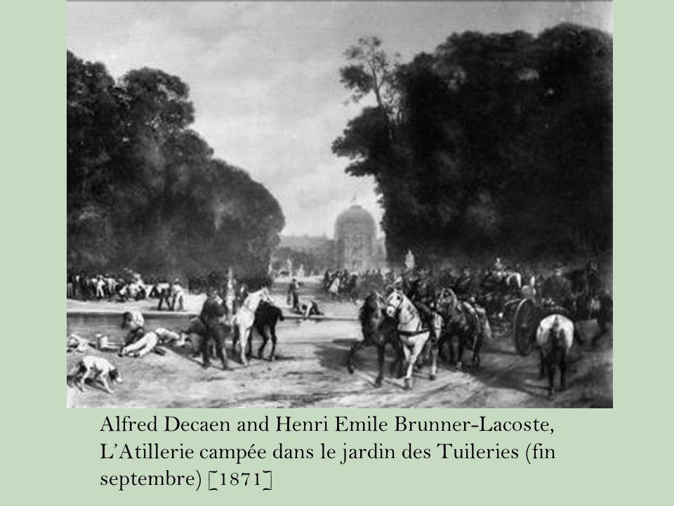 Alfred Decaen and Henri Emile Brunner-Lacoste, L'Atillerie campée dans le jardin des Tuileries (fin septembre) [1871]