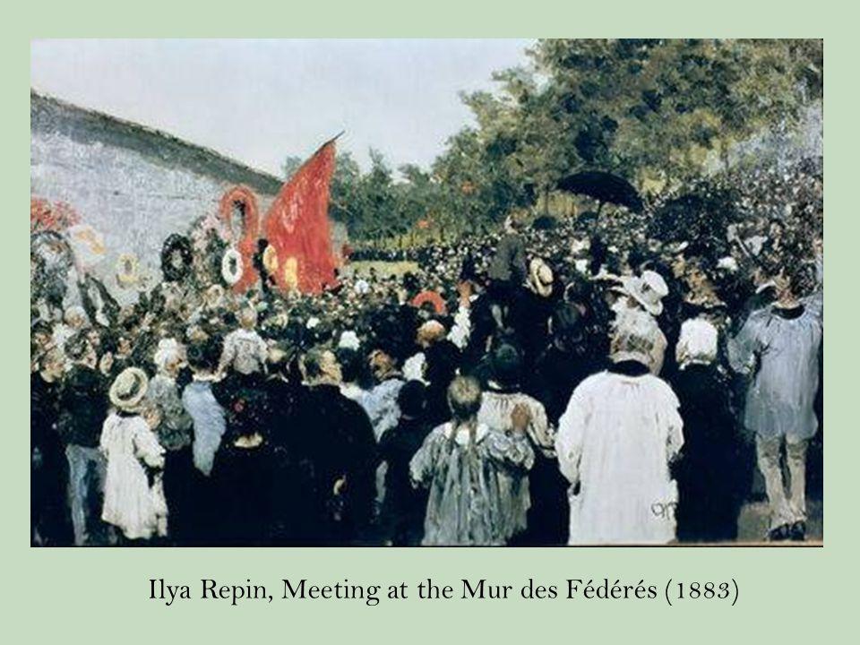 Ilya Repin, Meeting at the Mur des Fédérés (1883)