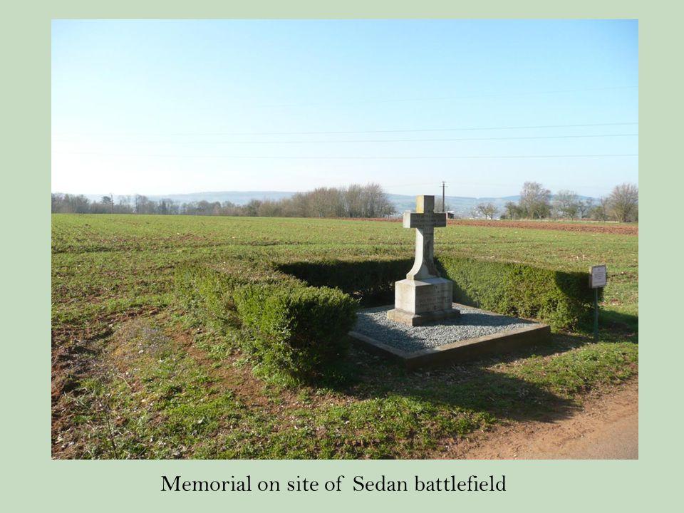 Memorial on site of Sedan battlefield