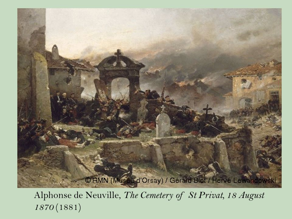 Alphonse de Neuville, The Cemetery of St Privat, 18 August 1870 (1881)