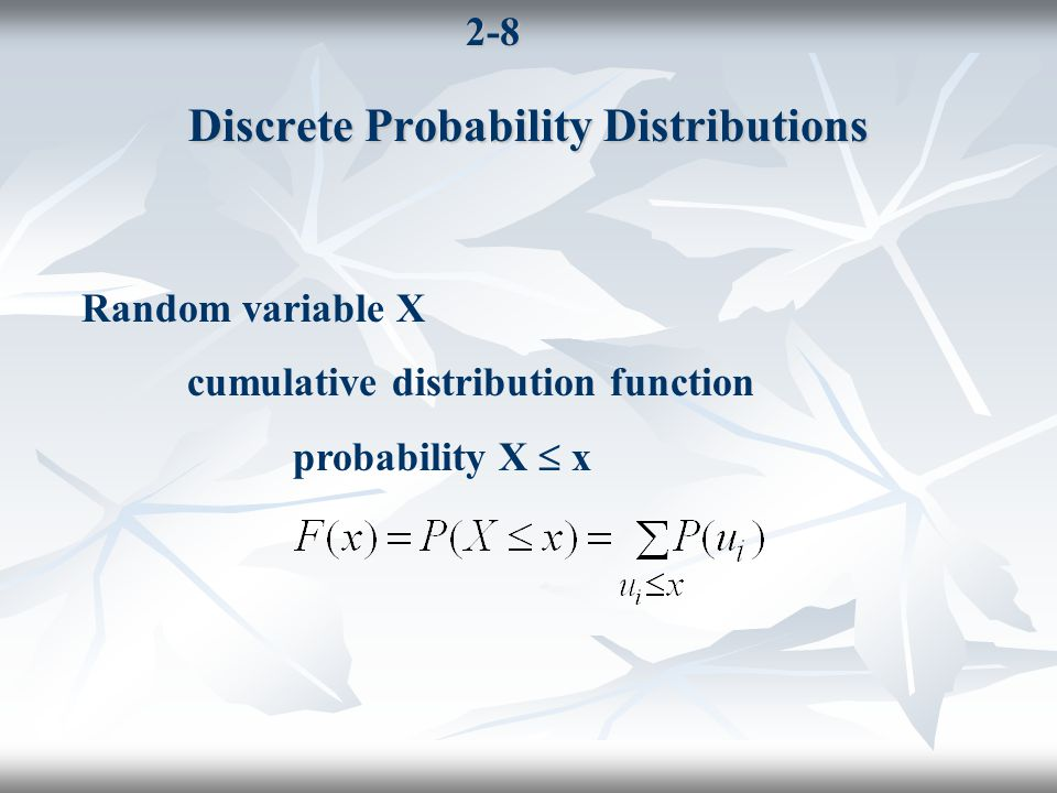 2-19 Joint Distributions (Example) cont.