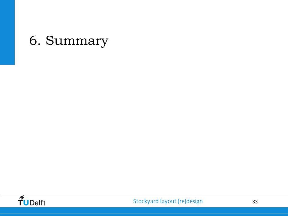 33 Stockyard layout (re)design 6. Summary