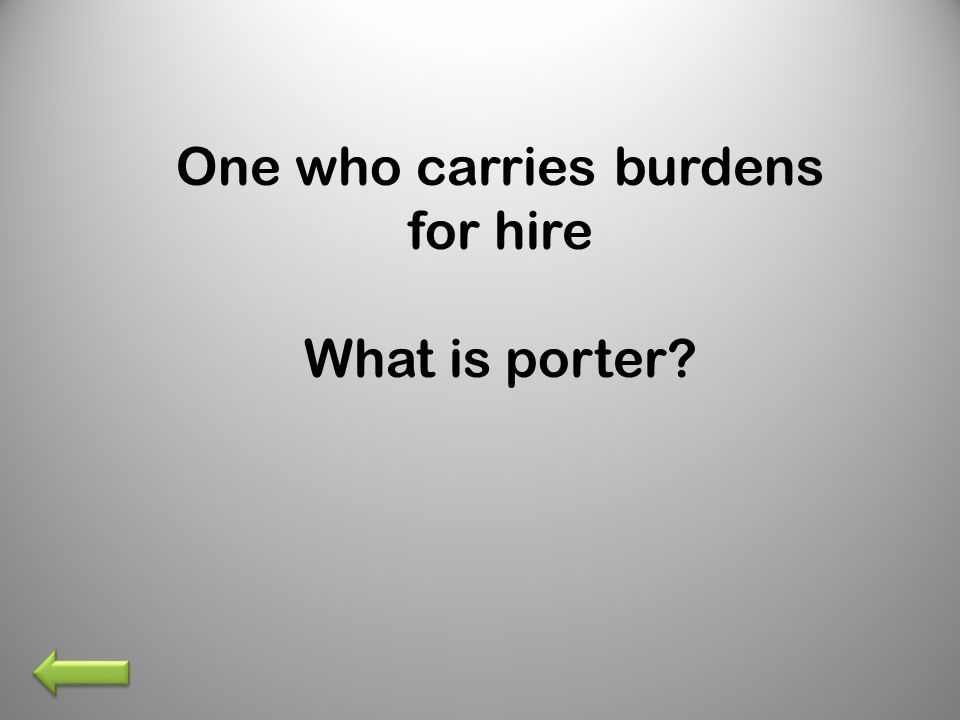 What is porter?