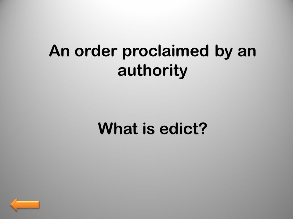 What is edict?