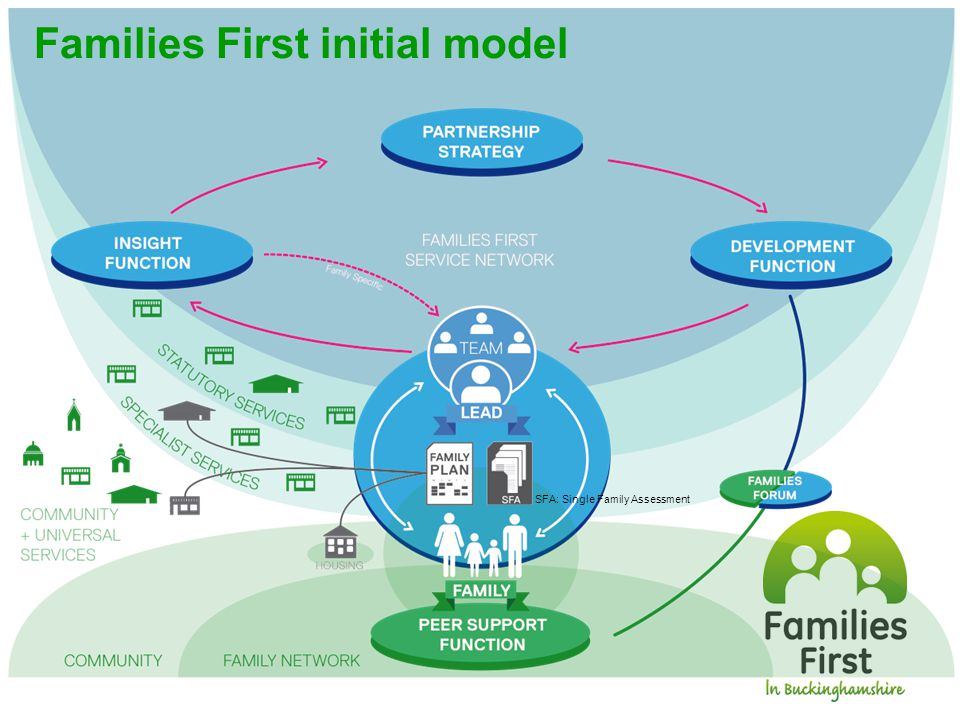 Families First initial model SFA: Single Family Assessment