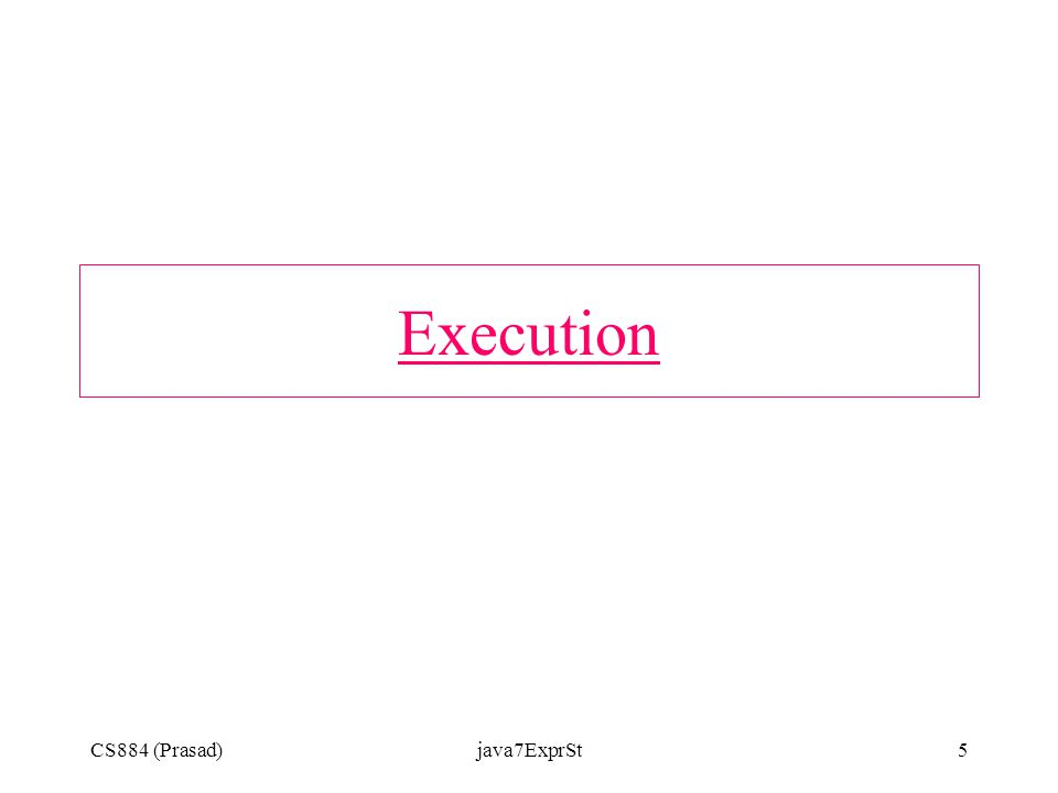 CS884 (Prasad)java7ExprSt5 Execution