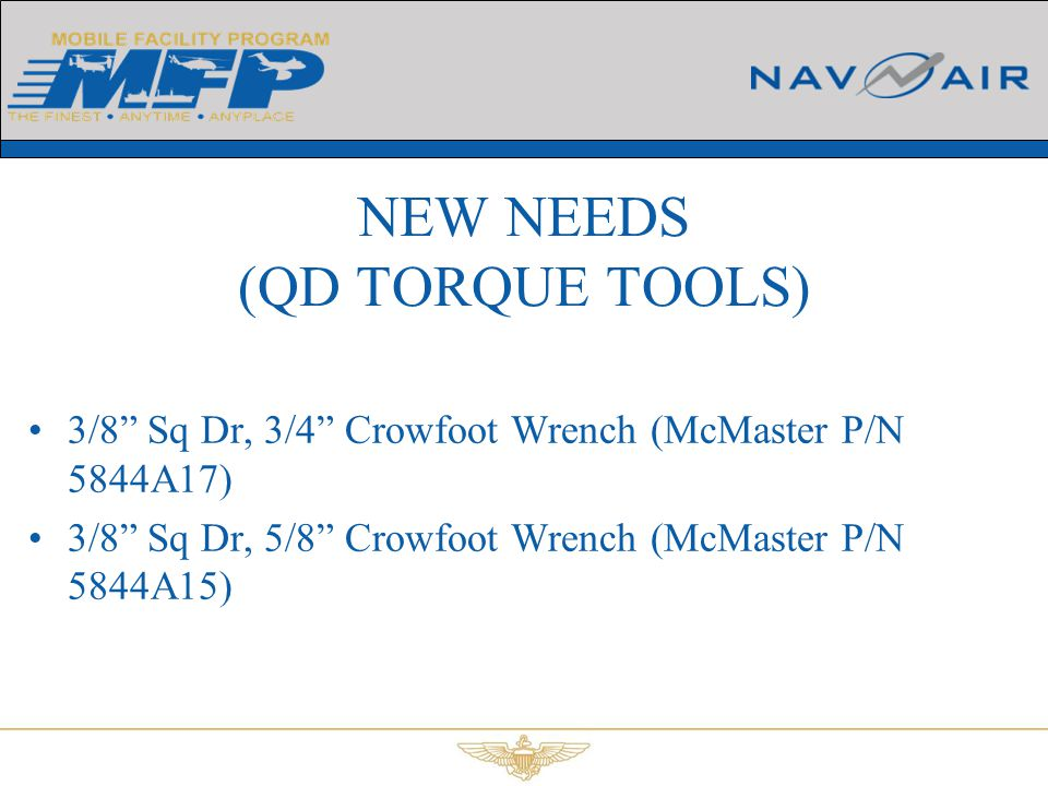 """3/8"""" Sq Dr, 3/4"""" Crowfoot Wrench (McMaster P/N 5844A17) 3/8"""" Sq Dr, 5/8"""" Crowfoot Wrench (McMaster P/N 5844A15) NEW NEEDS (QD TORQUE TOOLS)"""