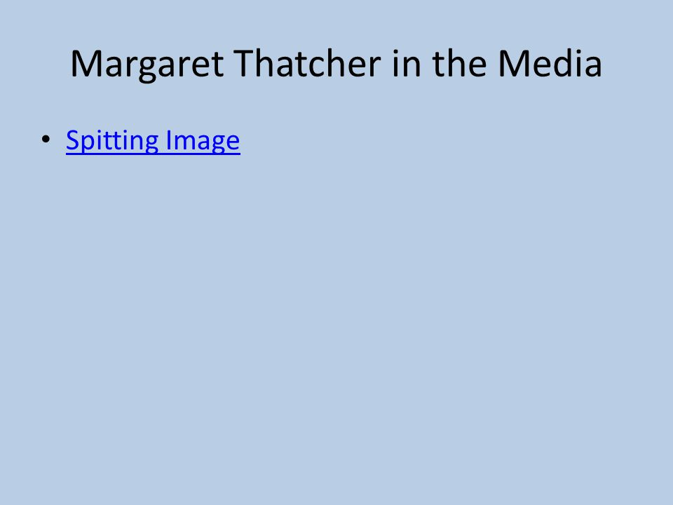 Margaret Thatcher in the Media Spitting Image