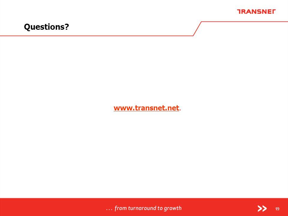 19 www.transnet.net. Questions