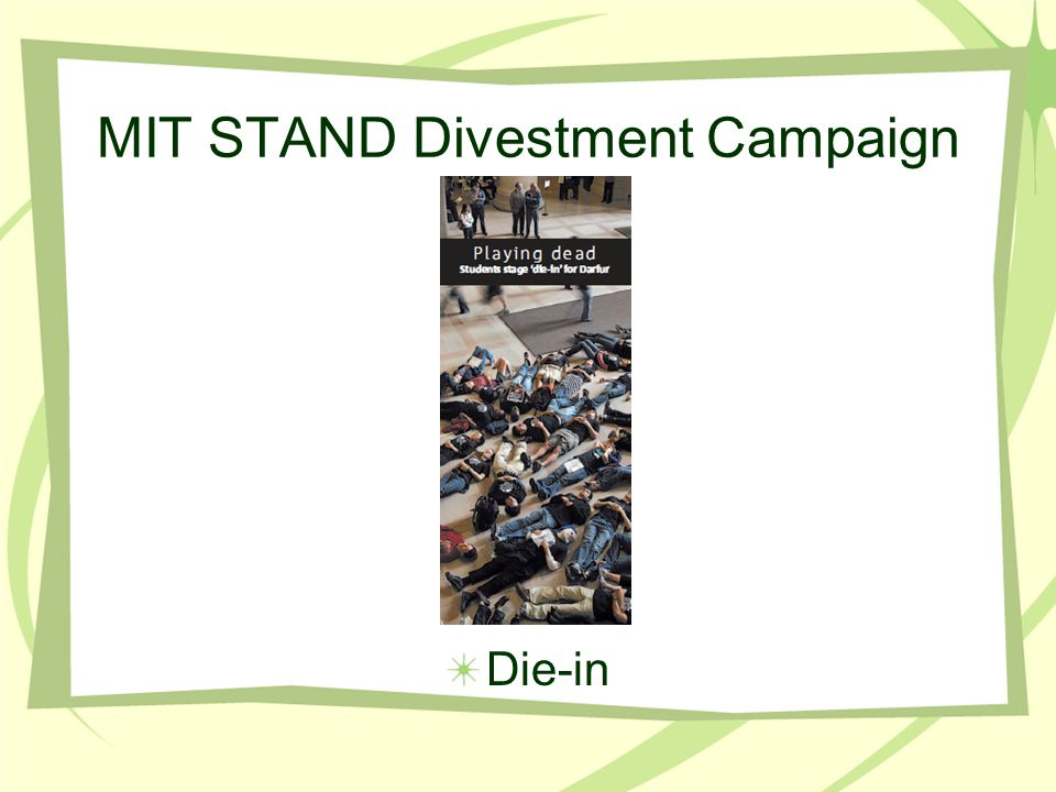 MIT STAND Divestment Campaign Die-in