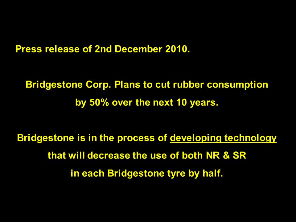 10 Press release of 2nd December 2010. Bridgestone Corp.