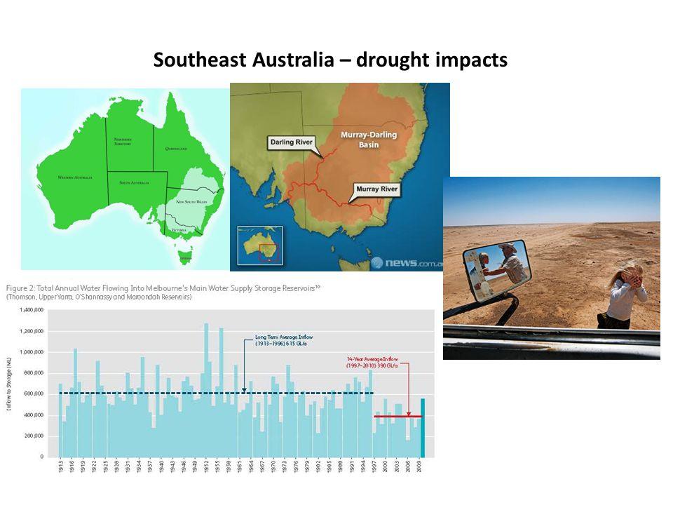 Southeast Australia – drought impacts
