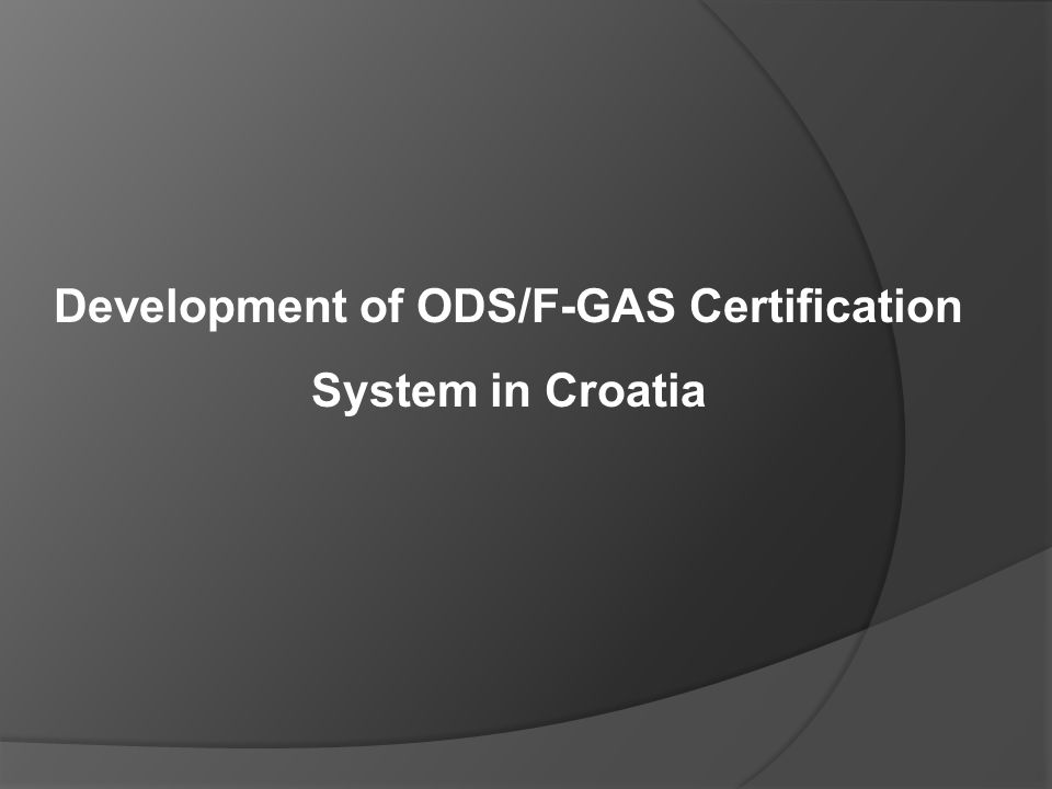 1999 Start UNIDO – Refrigerant Management Plan - RMP In agreement with: Ministry of Environmental Protection, Physical Planning and Construction University of Zagreb - Faculty of Mechanical Engineering and Naval Architecture - FMENA APO - Consulting and engineering in environmental protection agency