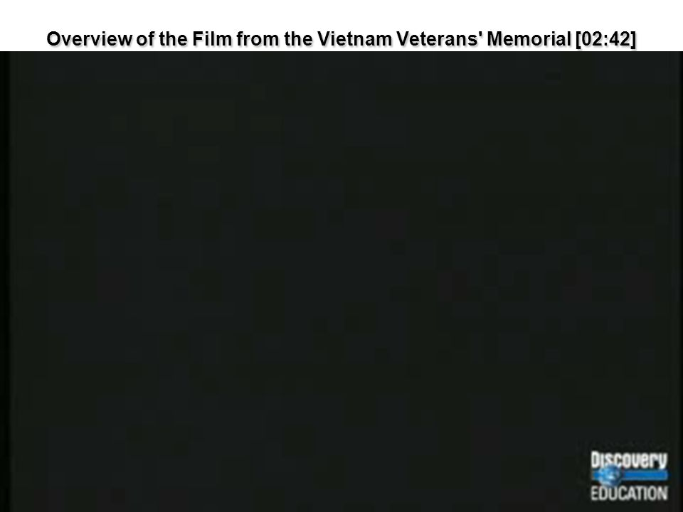 Overview of the Film from the Vietnam Veterans' Memorial [02:42]