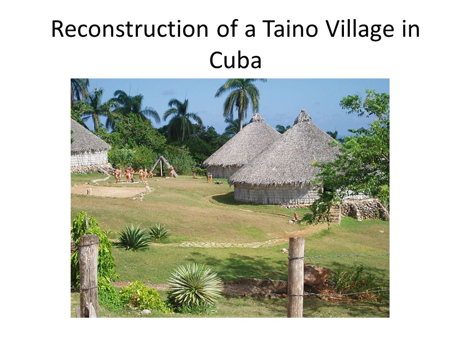 Reconstruction of a Taino Village in Cuba