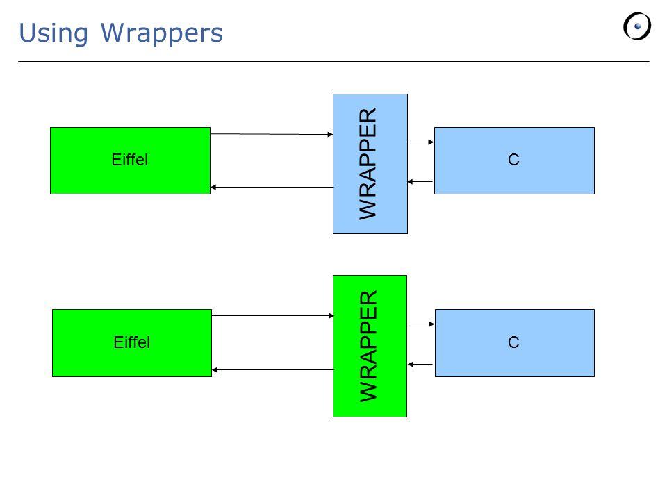 Using Wrappers EiffelC WRAPPER EiffelC WRAPPER
