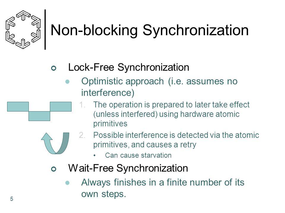 5 Non-blocking Synchronization Lock-Free Synchronization Optimistic approach (i.e.