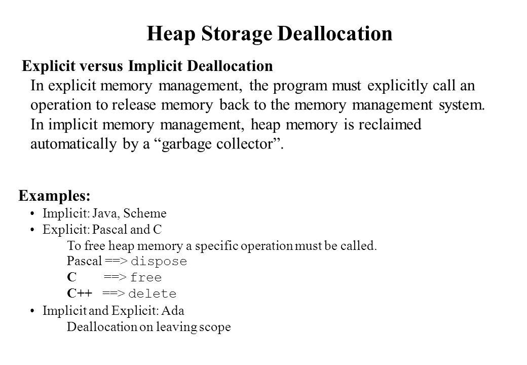 Where to put the heap.
