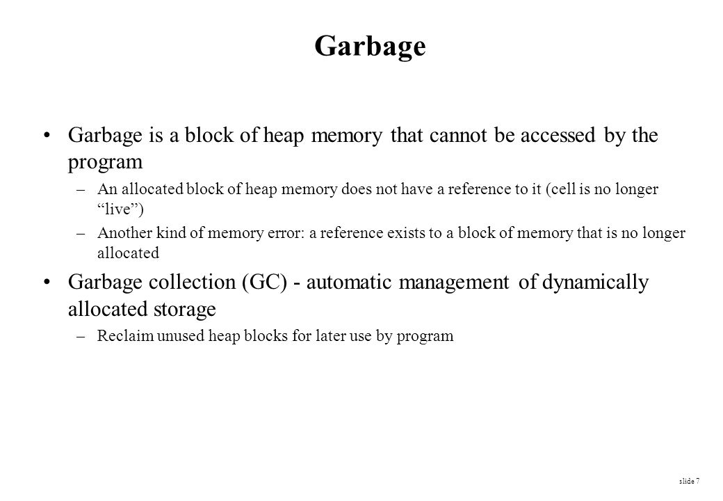 How to keep track of free memory.How to manage free space in the middle of the heap.
