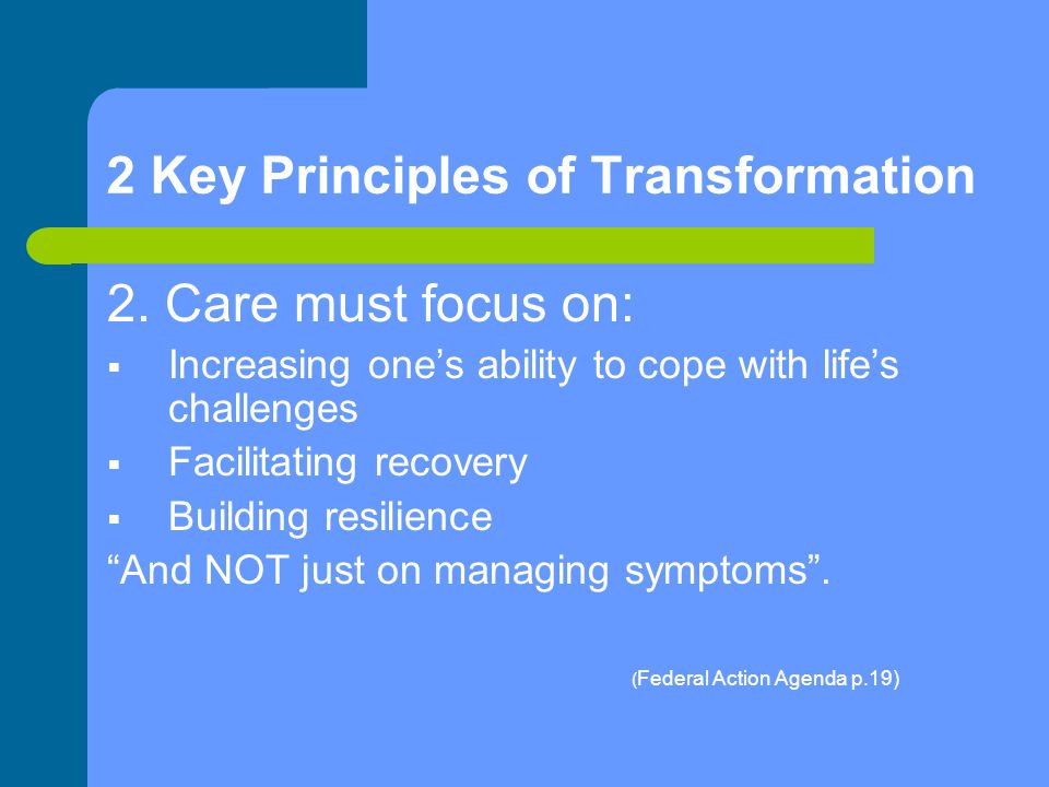2 Key Principles of Transformation 2.