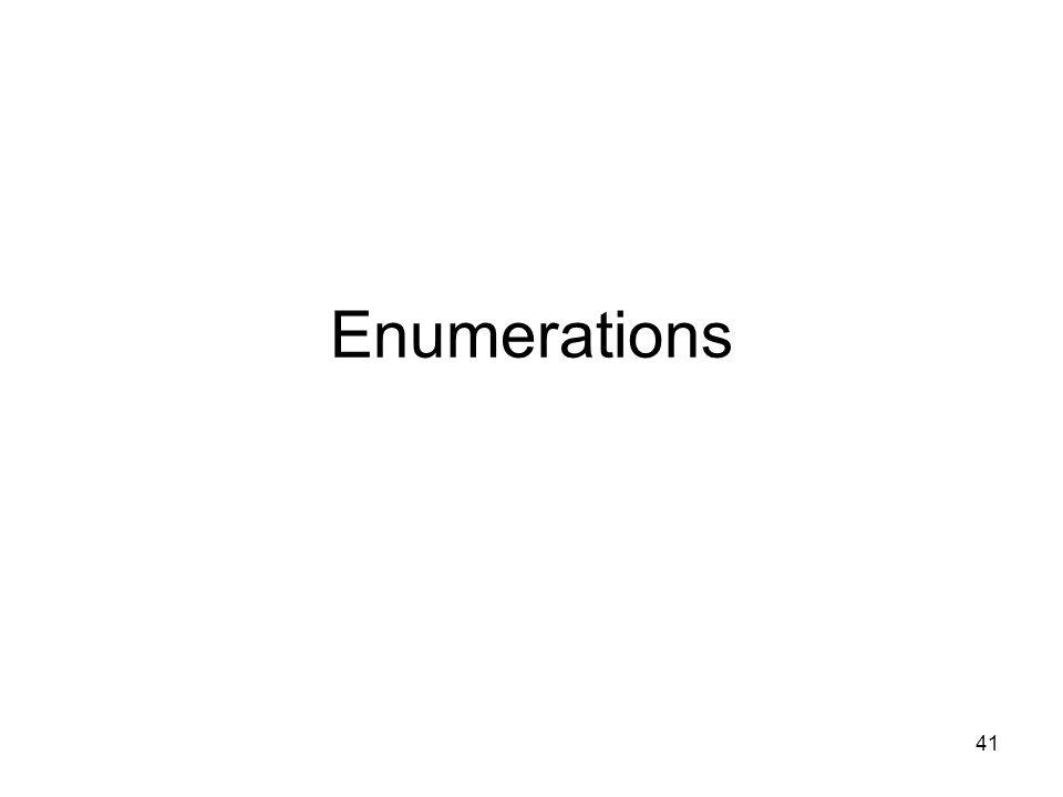41 Enumerations