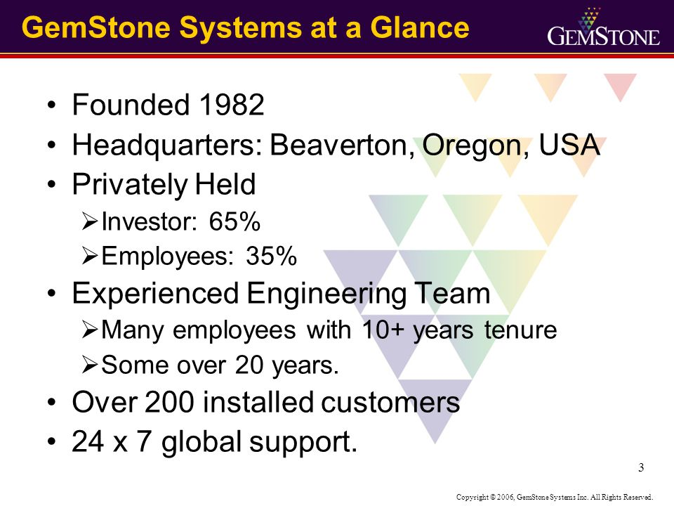 Copyright © 2006, GemStone Systems Inc.All Rights Reserved.
