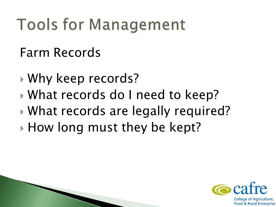 Farm Records  Why keep records.  What records do I need to keep.