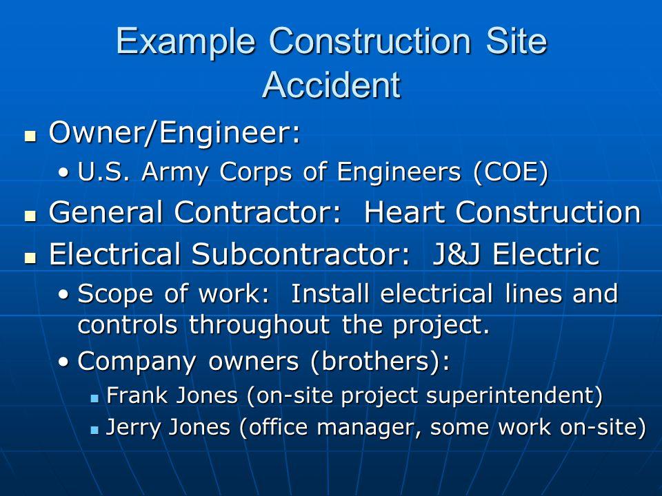 Owner/Engineer: Owner/Engineer: U.S. Army Corps of Engineers (COE)U.S.