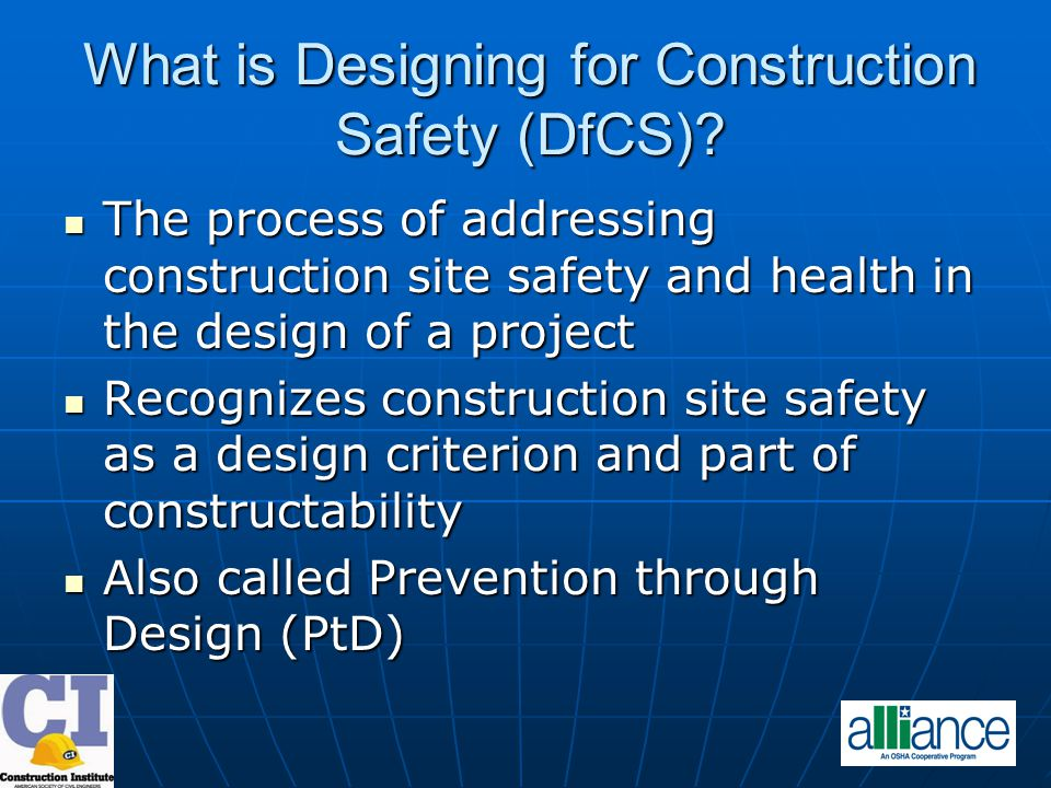 What is Designing for Construction Safety (DfCS).