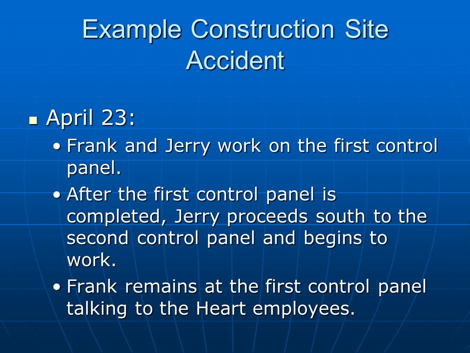 April 23: April 23: Frank and Jerry work on the first control panel.Frank and Jerry work on the first control panel.