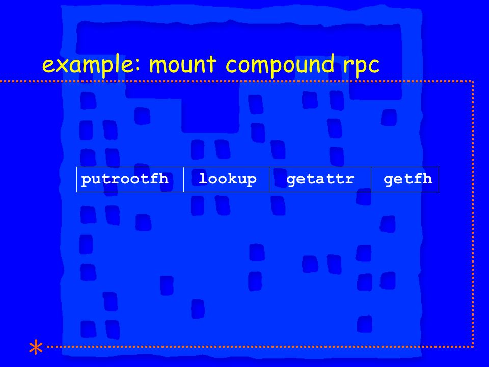example: mount compound rpc putrootfh lookup getattr getfh