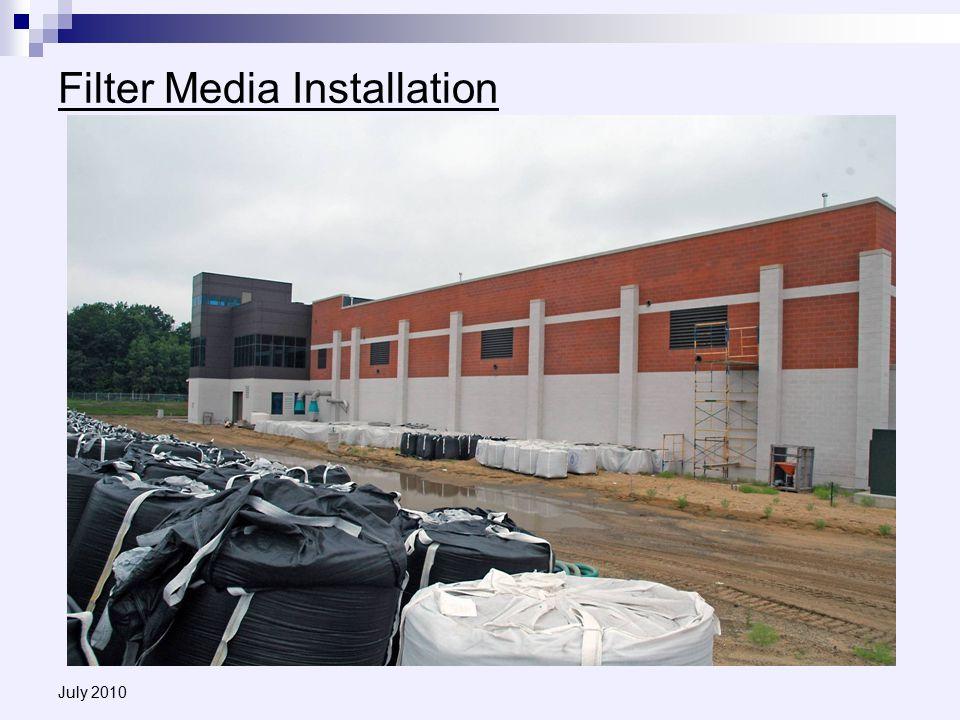 July 2010 Filter Media Installation