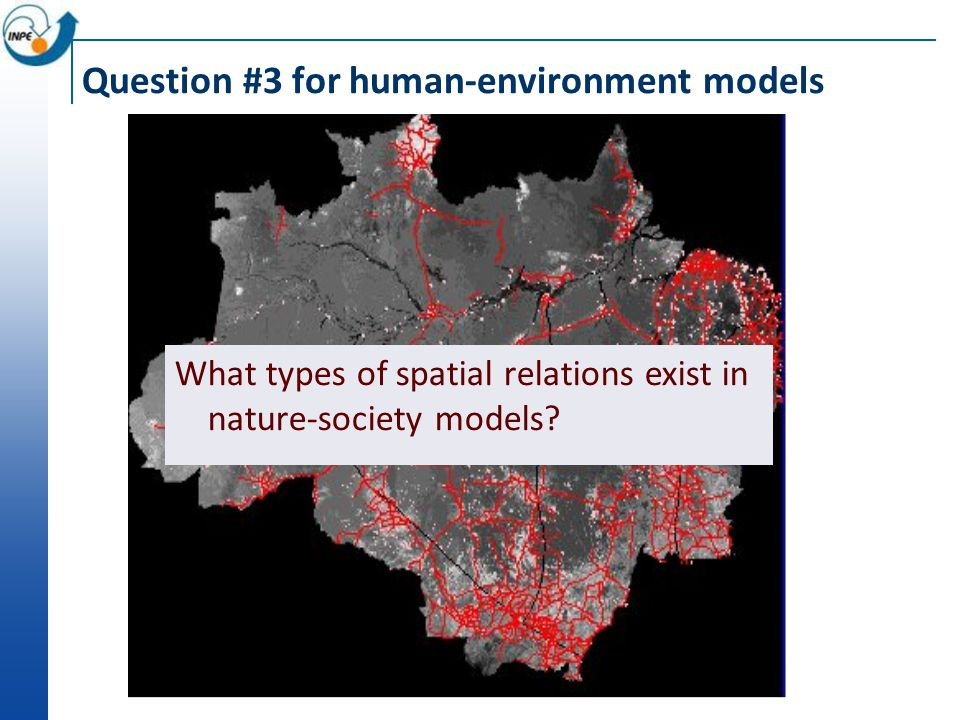 Question #3 for human-environment models What types of spatial relations exist in nature-society models