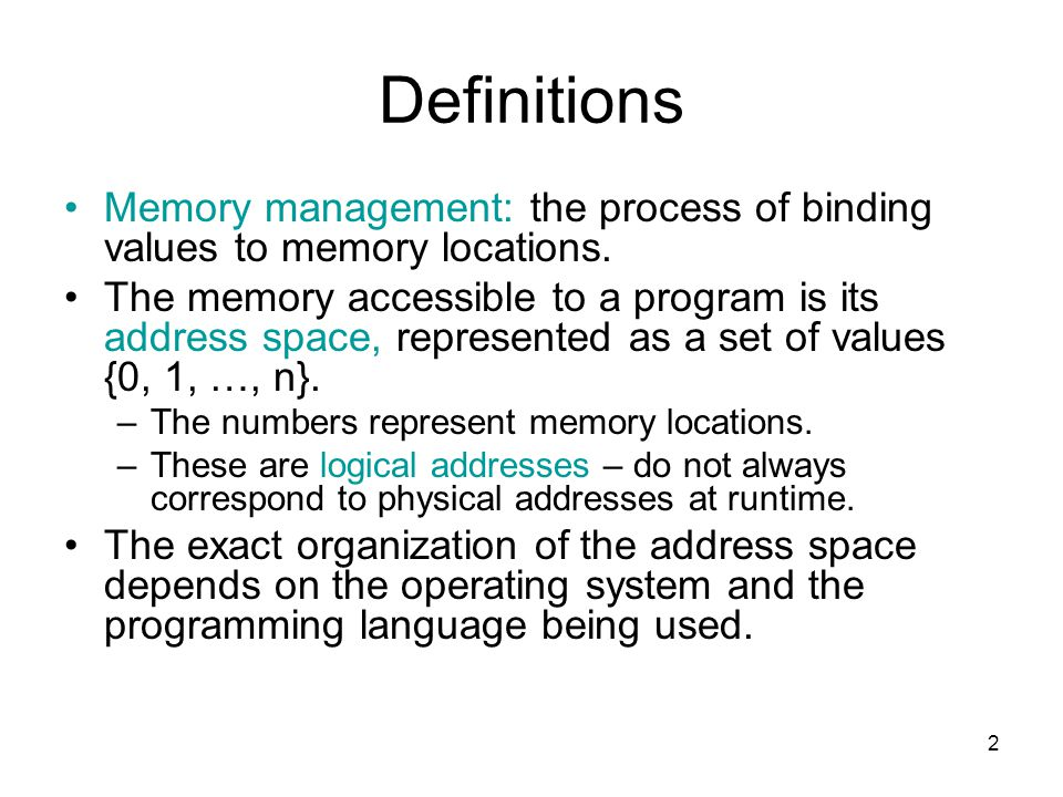 43 Garbage Garbage: any block of heap memory that cannot be accessed by the program; i.e., there is no stack pointer to the block; but which the runtime system thinks is in use.