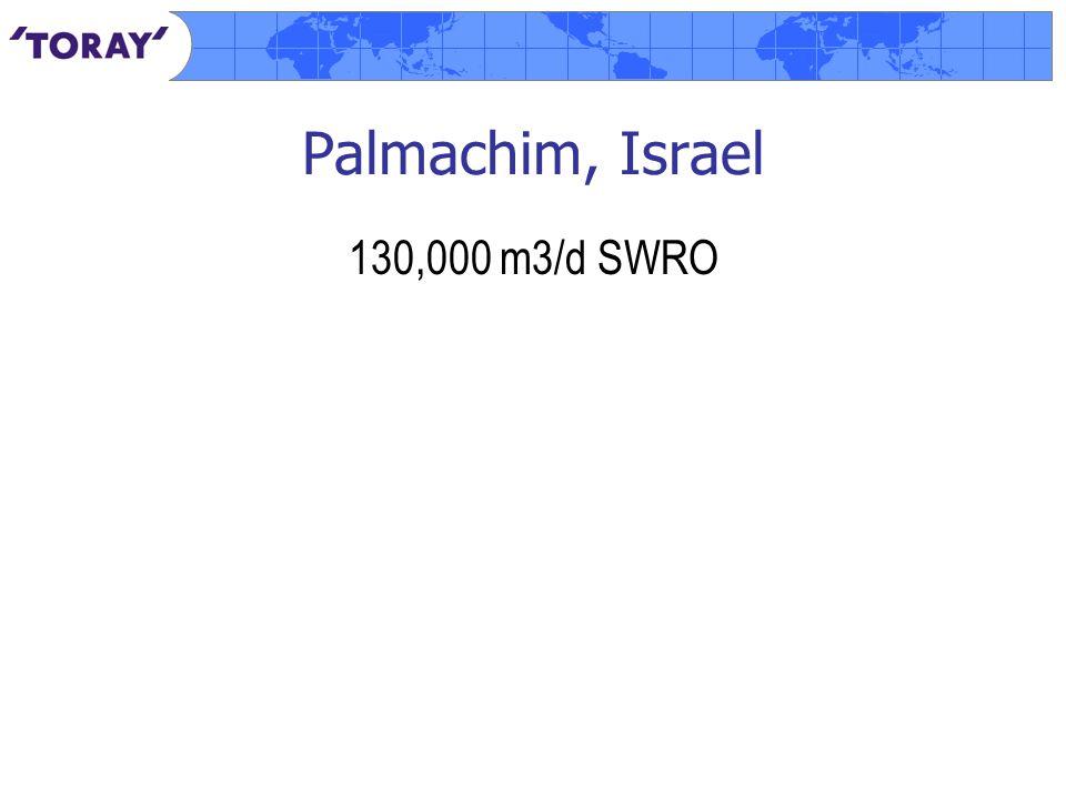 Palmachim, Israel 130,000 m3/d SWRO
