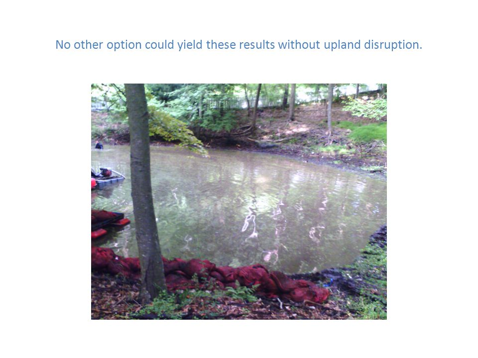 This portion of our clients pond truly needed to be dredged.