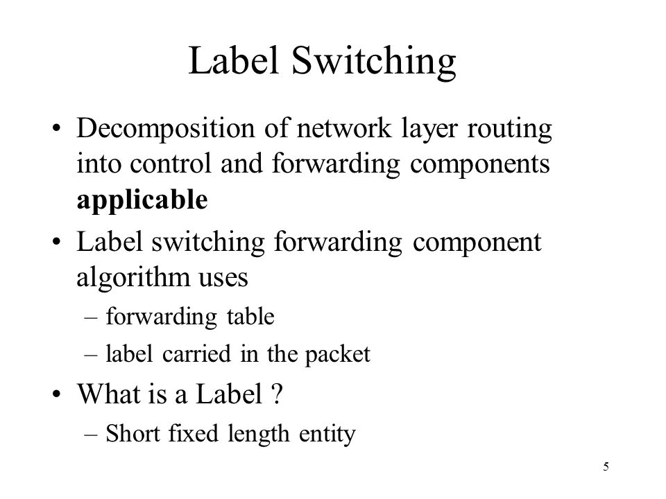 75 Multicast in Tag Switching (cont.) Procedures are used to partition the set of tags for use with multicast into disjoint subsets and care is taken to avoid overlapping with the help of HELLO packets TSR connected to a common sub-network and those which are a part of the same distribution tree elect one TSR that will create the tag bindings and distribute them and any TSR can join the group using the JOIN command