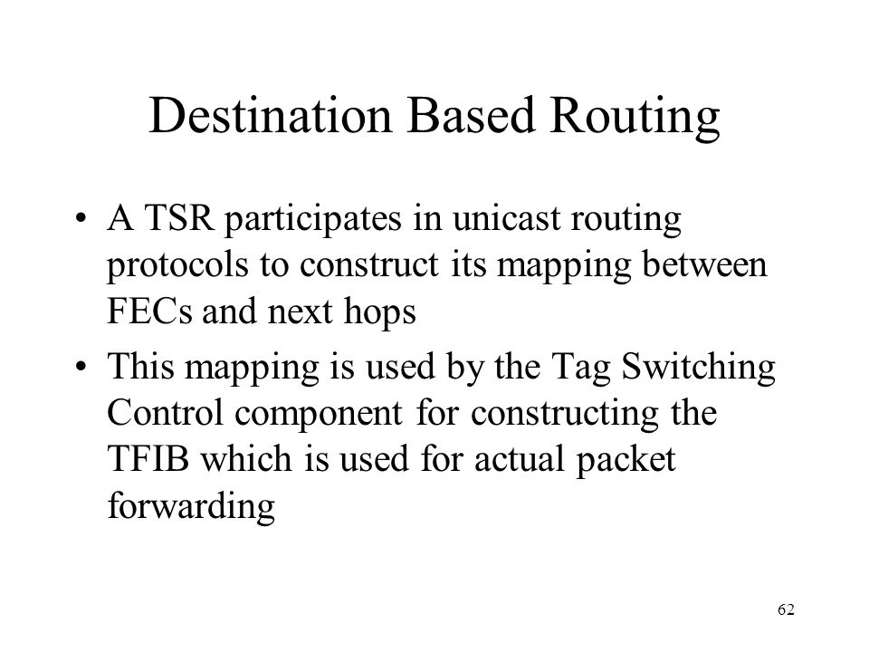 61 Tag Switching