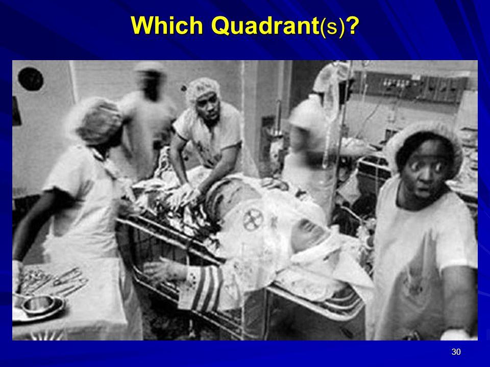 30 Which Quadrant (s)