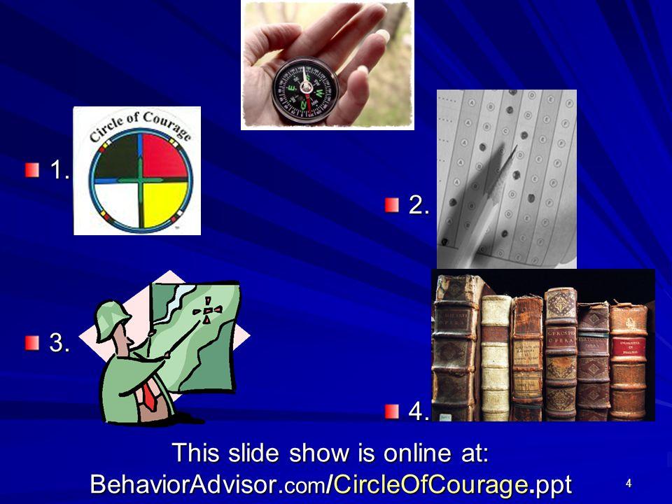 4 This slide show is online at: BehaviorAdvisor. com /CircleOfCourage.ppt 1.2.3.4.